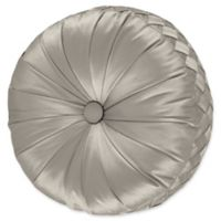 J. Queen New York® Satinique Tufted Round Throw Pillow in Silver