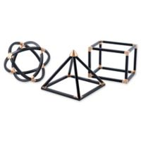Zuo® Geo Shapes in Black (Set of 3)
