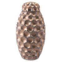 Zuo® Large Hammered Jar in Distressed Bronze