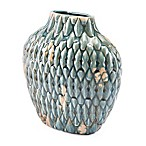 Zuo® Modern Seta Distressed Short Vase in Blue