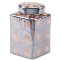 Zuo® Inca Small Covered Jar in Yellow/Black