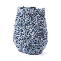 Zuo® Short Twist Vase in Blue