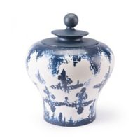 Zuo® Mar Small Temple Jar in Blue/White