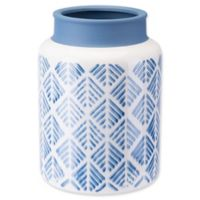 Zuo® Modern Large Zig Zag Vase in Steel Blue/White