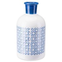Zuo® Modern Large Bottle in Steel Blue/White