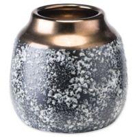 Zuo® Stoneware Metal Small Vase in Black