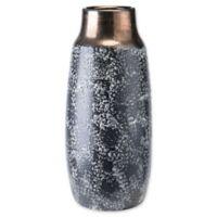 Zuo® Stoneware Metal Medium Vase in Black