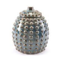 Zuo® Pinecone Medium Ceramic Jar in Rust