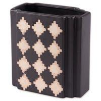 Zuo® Pampa Small Rectangular Vase in Black/Beige