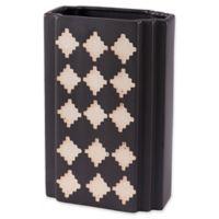 Zuo® Pampa Large Rectangular Vase in Black/Beige