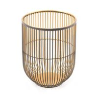 Zuo® Jaula Small Candle Holder in Black/Gold