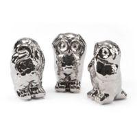 Zuo® 3-Piece Owl Figurines in Silver
