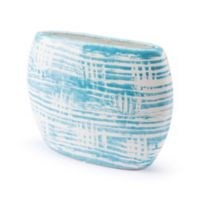 Zuo® Washed Ceramic Planter in Blue/White