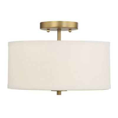 Buy drum shade ceiling light from bed bath beyond filament design 2 light ceiling fixture in brass with white drum shade aloadofball Gallery