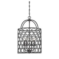 Filament Design Cage 4-Light Foyer Pendant in Oil Rubbed Bronze