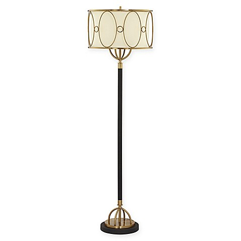 Pacific coast lighting oval floor lamp bed bath beyond pacific coast lighting oval floor lamp in black with fabric shade aloadofball Choice Image