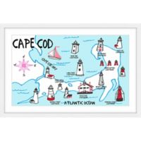 Marmont Hill Lighthouse Names Cape Cod 36-Inch x 24-Inch Framed Wall Art