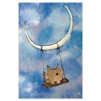 Marmont Hill Swinging Owl 12-Inch x 18-Inch Canvas Wall Art