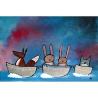 Marmont Hill Friends in Boats Canvas Wall Art