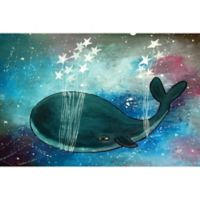 Marmont Hill Star Stringed Whale 24-Inch x 16-Inch Canvas Wall Art