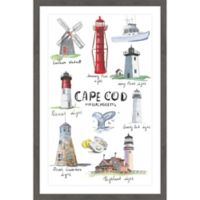 Marmont Hill Lighthouses Collection 20-Inch x 30-Inch Framed Wall Art