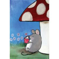 Marmont Hill Book Mouse 16-Inch x 24-Inch Canvas Wall Art
