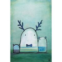 Marmont Hill Oop Bop and Dawdle 24-Inch x 16-Inch Canvas Wall Art