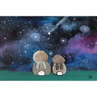 Marmont Hill Starry Sky Bunnies 18-Inch x 12-Inch Canvas Wall Art