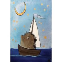 Marmont Hill The Hedgehog's Dream 24-Inch x 16-Inch Canvas Wall Art