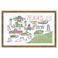 "Marmont Hill ""Texas"" Landmarks 16-Inch x 24-Inch Framed Wall Art"