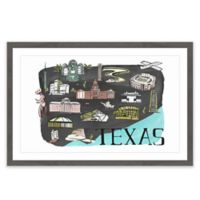 Marmont Hill All About Texas 18-Inch x 12-Inch Framed Wall Art