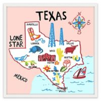 Marmont Hill Classic Texas 32-Inch Square Framed Wall Art