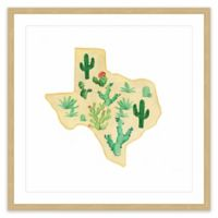 Marmont Hill Texas Cactus 24-Inch Square Framed Wall Art