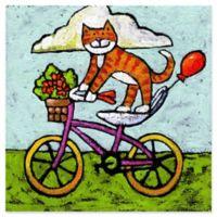 Marmont Hill Tiger Cat Bike Acrobat 40-Inch Canvas Wall Art