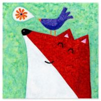 Marmont Hill What Does The Fox Sing 48-Inch sq. Canvas Wall Art