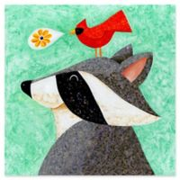 Marmont Hill Recital for Raccoon 18-Inch x 18-Inch Canvas Wall Art
