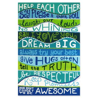 Marmont Hill Family Rules II 12 Inch X 18 Inch Multicolor Canvas Wall Art