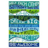 Marmont Hill Family Rules II 40-Inch x 60-Inch Multicolor Canvas Wall Art