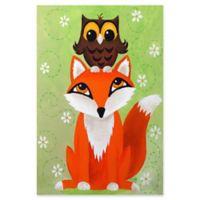 Marmont Hill Owl on Fox 16-Inch x 24-Inch Canvas Wall Art