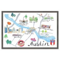 Marmont Hill Lively Austin 18-Inch x 12-Inch Framed Wall Art