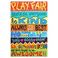 Marmont Hill Playroom Rules II 12-Inch x 18-Inch Canvas Wall Art