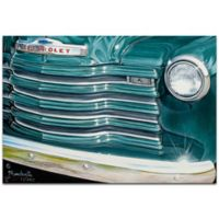 Metal Art Studio Americana Grandpaz 32-Inch x 22-Inch Metal Wall Art in Teal