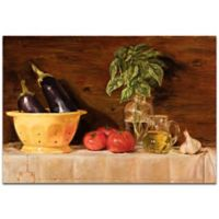 Metal Art Studio Eggplant Traditional 32-Inch x 22-Inch Metal Wall Art