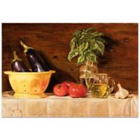 Metal Art Studio Eggplant Traditional 32-Inch x 22-Inch Plexiglass Wall Art