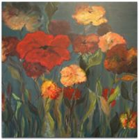 Metal Art Studio Flower Patch 22-Inch Square Metal Wall Art