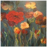 Metal Art Studio Flower Patch 22-Inch Square Plexiglas Wall Art
