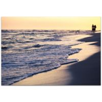 Metal Art Studio Beach Stroll 32-Inch x 22-Inch Wall Art in Plexiglass