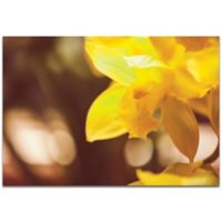 Metal Art Studio Golden Bloom 32-Inch x 22-Inch Metal Wall Art in Yellow