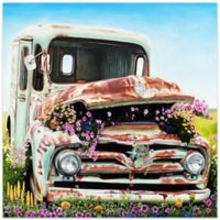 Metal Art Studio Americana Got Flowers 22-Inch x 22-Inch Plexiglass Wall Art in Seafoam