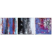 Metal Art Studio Urban Triptych IV 38-Inch x 12-Inch Metal Wall Art